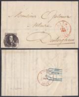 BELGIQUE COB 6 SUR LETTRE DE GAND 06/02/1851 (DD) DC-7202 - 1851-1857 Medallions (6/8)