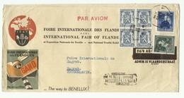 N°724T-748-426(bloc De4) Obl; Sc GENT Sur Lettre Ill. (FOIRE INTERNATIONALE Des FLANDRES GAND1947) Du 24-III-1948 Vers Z - 1946 -10%