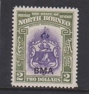 NORTH BORNEO 1945 $2 BMA SG 333 VERY LIGHTLY MOUNTED MINT Cat £75 - Bornéo Du Nord (...-1963)