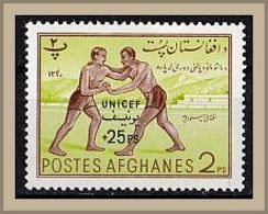 """(554) Afghanistan 1961 Overprinted """"UNICEF"""" & Surcharged ** MNH/postfrisch (A-8-14) - Afghanistan"""