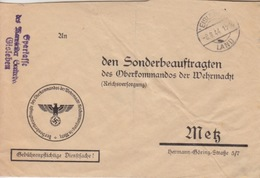 Lettre Pré-imprimée (Sonderbeauftragten...) Obl Eisleben Land En Franchise Le 8/8/44 + Spakasse Eisleben - Deutschland