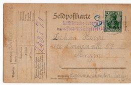 CARTE DE PRISONNIER GUERRE 1914 18   -   DEFCHRICBEN POUR ANZIN 1916 - Storia Postale