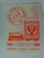 CREMONA - 80' ANNIVERSARIO FERROVIA E AMBULANTE POSTALE 1986 - NUMERATA - F.TO GRANDE - ANNULLO POSTALE - Cremona