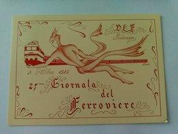 27' GIORNATA DEL FERROVIERE - FIDENZA 1985 - NUMERATA - F.TO GRANDE - ANNULLO POSTALE - Treinen