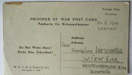 USA Italien Kriegsgefangenenpost POW Camp Naples Italy 1946 US PWE (39823) - Militaria