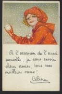 Jeune Fille - Neige - Boule De Neige - Ill. Nanni - 1923 - Girl Throwing Snowball - - Nanni