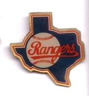 AA311 Pin's Base Ball Baseball RANGERS USA CARTE   Achat Immédiat - Baseball