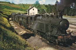 Gare De Condat - Saint-Amandin (15) Locomotive 141 TA 440 - Septembre 1962 - Condat
