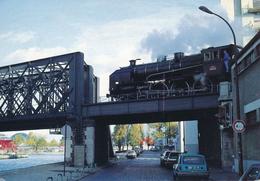 Paris (75019) Quand La Ligne De La Petite Ceinture Croise Le Canal De L'Ourcq - Novembre 1991 - Transport Urbain En Surface