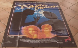 AFFICHE CINEMA ORIGINALE FILM ELECTRIC DREAMS Steve BARRON VON DOHLEN MADSEN DESSIN MALINOWSKI 1984 - Posters