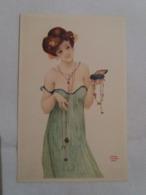 (F2) CP : Jeune Femme Drapée En Bijoux  : Collection BIO-TEX. - Illustrateur Raphaël Kirchner Paris. - Kirchner, Raphael
