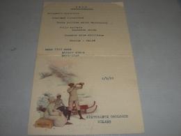 MENU' 1922 RISTORANTE OROLOGIO MILANO - Menus