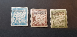 Martinique Yvert TT 1-3** - Impuestos