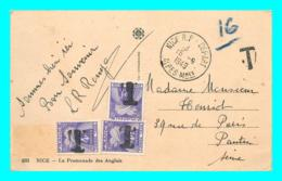 A819 / 071  Belle Lettre Taxée De 1949 - Timbre Taxe GERBES 3 X 4f - 1859-1955 Storia Postale