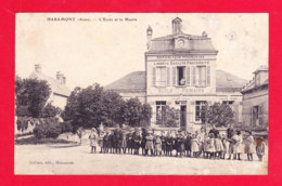 F-02-Haramont-01Ph94  L'école Et La Mairie, Animation, Cpa - Sonstige Gemeinden