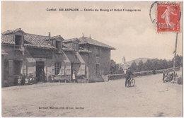 15. ARPAJON. Entrée Du Bourg Et Hôtel Fronquierre. 609 - Arpajon Sur Cere