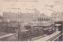 Bx - Cpa St GERMAIN EN LAYE - Intérieur De La Gare Et Le Château - St. Germain En Laye
