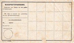 Ongebruikt Spaarblaadje Van De RIJKSpostspaarbank NO VI -  Juli 1892 - Postal Stationery