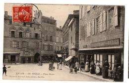 FIGEAC PLACE HAUTE COMMERCES TRES ANIMEE - Figeac