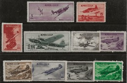 Russie 1945-1946 N° Y&T :  PA. 72 à 78,80,86 Et 87  * - Neufs