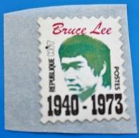 BRUCE LEE 1940/1973 Révélati Cinéma Vignette**Autocollant Neuf Erinnophilie,Timbre,stamp,Sticker-Aufkleber-Bollo-Viñeta - Erinofilia