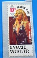 SYLVIE VARTAN  17é Disque D'or Vignette**Autocollant Neuf Erinnophilie,Timbre,stamp,Sticker-Aufkleber-Bollo-Viñeta - Zonder Classificatie