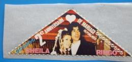 SHEILA/RINGO 2é Anniversaire Mariage Vignette**Autocollant Neuf Erinnophilie,Timbre,stamp,Sticker-Aufkleber-Bollo-Viñeta - Non Classés