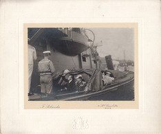 France Two Cabinet Photo (F. Pelanda, Nice) High Delegation Visiting The Ship B200301 - Guerre, Militaire