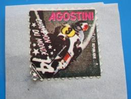 AGOSTINI CHAMPION DU MONDE MOTO 74 Vignette**Autocollant Neuf Erinnophilie,Timbre,stamp,Sticker-Aufkleber-Bollo-Viñeta - Sports