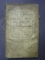 1897 - Armée Belge - Livret De Mobilisation - Avec Etats De Services - Documents