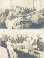 Cpa Militaire – 2 CPA Carte-photo, Soldats, Infirmières, Hôpital - Weltkrieg 1914-18