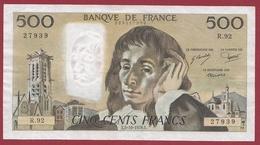 """500 Francs """"Pascal"""" Du 05/10/1978.E ---SUP--ALPH .R.92 - 1962-1997 ''Francs''"""