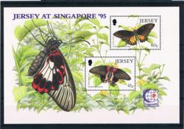 Jersey 1995 Schmetterlinge Block 11 ** - Jersey