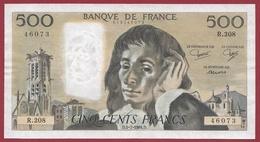 """500 Francs """"Pascal"""" Du 05/07/1984.D ---SUP--ALPH .R.208--AUCUN TROU D EPINGLE - 1962-1997 ''Francs''"""