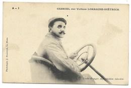GABRIEL Sur Voiture LORRAINE-DIETRICH... - Cartoline