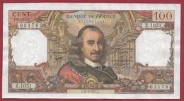 """100 Francs """"Corneille"""" Du 03/03/1977.C ---TTB+--ALPH .Z.1051---DERNIER ALPHABET---Z-- - 1962-1997 ''Francs''"""
