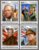 Central Africa.  2020 55th Memorial Anniversary Of Winston Churchill. (0102a)  OFFICIAL ISSUE - Sir Winston Churchill