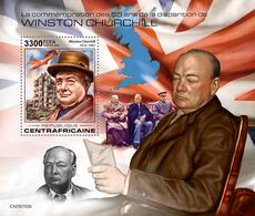Central Africa.  2020 55th Memorial Anniversary Of Winston Churchill. (0102b)  OFFICIAL ISSUE - Sir Winston Churchill