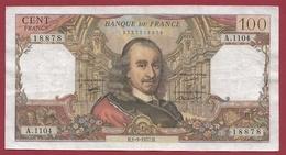 """100 Francs """"Corneille"""" Du 01/09/1977.H ---TTB--ALPH .A.1104--PREMIER ALPHABET--A-- - 1962-1997 ''Francs''"""