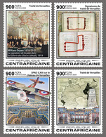 Central Africa.  2020 100th Anniversary Of The Treaty Of Versailles Taking Effect. (0103a)  OFFICIAL ISSUE - Prima Guerra Mondiale