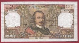 """100 Francs """"Corneille"""" Du 02/02/1978.B ---TTB--ALPH .D.1146 - 1962-1997 ''Francs''"""