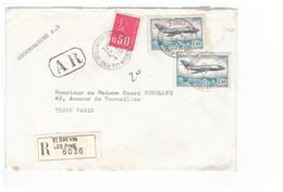 1972 Lettre Recommandée Pli Recommandé Vignette Cachet St Brevin Les Pins Cachet AR 44 Loire Atlantique - Marcofilie (Brieven)