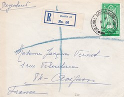 Env Recommandée T.P Ob RS CHILL MOCHARGANUACHU BAC + étiquette Dublin 6 IX 65 - 1949-... République D'Irlande