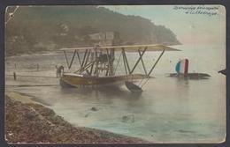 Aviation Cpa Photo Couleurs ~1920 Gros Plan Hydravion Désemparé à La Madrague - Marseille ? - 1919-1938: Between Wars