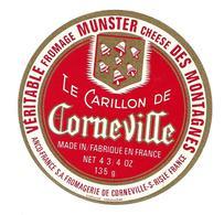 ETIQUETTE De FROMAGE..MUNSTER Des MONTAGNES..Le Carillon De Corneville..ANCO-FRANCE S.A Fromagerie De CORNEVILLE / RISLE - Cheese