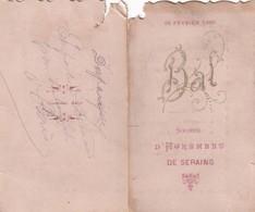 1899 Carnet De Bal SERAING - Sin Clasificación