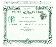 Comptoir Central De France, Le Plus Vieux G. RICHARD - Actions & Titres