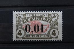 REUNION,année 1917 Y&T NO 83   1C SUR 4C Gris-olive Et Rouge Surcharge ..NEUF MNH *..... - Réunion (1852-1975)