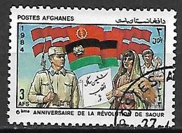 AFGHANISTAN    -   1984  .  6 ° Anniversaire De La Révolution De Saour  /  Drapeaux - Afghanistan