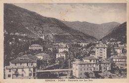 GENOVA - DORIA - PANORAMA CON SAN SIRO- VIAGGIATA 1937 - Genova (Genoa)
